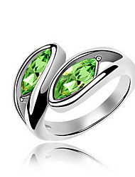 Women's Ring Crystal Alloy Jewelry For Daily Casual