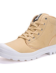 cheap -Men's Fashion Canvas Boots Comfort Combat Boots Tooling Shoes Outdoor Casual Flat Heel Lace-up More Color EU38-45