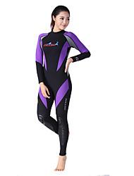 baratos -Dive&Sail Mulheres 1,5 mm Macacão de Mergulho Longo Prova-de-Água Térmico / Quente Secagem Rápida Resistente Raios Ultravioleta Vestível