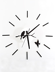 cheap -Modern/Contemporary Retro Acrylic Glass Metal Round Novelty Indoor/Outdoor,AA Wall Clock