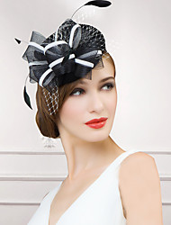 cheap -Wool Feather Net Fascinators Hats Headpiece