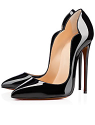 Women's Heels Spring Summer Fall Patent Leather Office & Career Casual Party & Evening Stiletto Heel Black