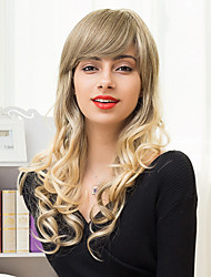 Beautiful Long Layered Capless Wigs Natural Wavy Ombre Blends Human Hair