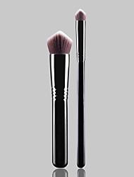 2pcs Black Eyeshadow Brush Concealer Brush Foundation Brush Synthetic Hair Professional Synthetic Portable Wood Face Eye Others