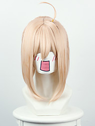 Women Synthetic Cosplay Wigs Fate/Grand Order Sakura saber General manager of the field Blonde Hair With Ponytail Wig Heat Friendly Fiber