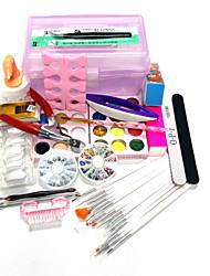 20sets arte do prego quantidade de embalagem kit de unhas Nail Art Decoração tipo de estilo caixa de DIY