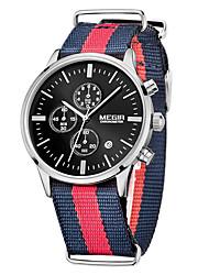 Недорогие -MEGIR Муж. Спортивные часы Армейские часы Нарядные часы Модные часы Наручные часы Кварцевый Цифровой Календарь Материал Группа Винтаж С