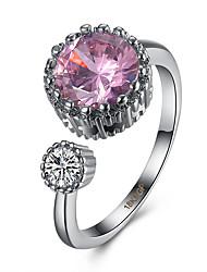 Women's Ring AAA Cubic Zirconia Adjustable Open Luxury Costume Jewelry Zircon Copper Titanium Steel Tungsten Steel Imitation Diamond