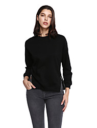 cheap -Women's Plus Size Sweatshirt - Solid Colored