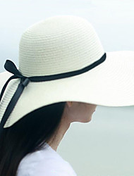 cheap -Women Casual Travelling Straw Large Brimmed Foldable Sun Hats