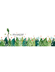cheap -Wall Stickers Wall Decals Style Watercolor Plant Leaves PVC Wall Stickers