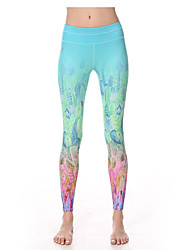 Women's Running Tights Gym Leggings Quick Dry Breathable Compression Ultra Light Fabric Tights Leggings for Yoga Pilates Exercise &