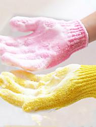 1Pcs Skid Resistance Body Sponge Bath Massage Of Shower Bath Scrub Gloves Shower Exfoliating Bath Gloves Shower Scrubber  Random Color