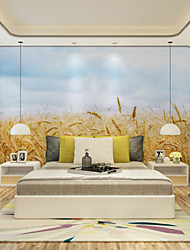 JAMMORY Art DecoWallpaper For Home Wall Covering Canvas Adhesive required Mural Wind Shakes the Barley XL XXL XXXL