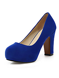 Women's Heels Spring Summer Fall Shoes & Matching Bags Cashmere Office & Career Party & Evening Casual Chunky Heel Black Blue Green