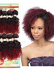 economico -Ricci Jheri Riccio Crochet trecce con capelli umani Ricci intrecciati Trecce di capelli 8