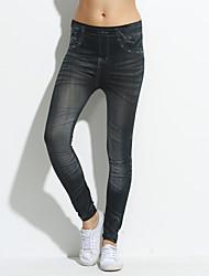 Panno Moda rughe vita alta Oxford modello sottile ghette nono Pants