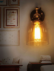 cheap -Industrial Edison Simplicity Glass Wall Sconce Metal Base Cap Dining Room / Study Room/Office / Hallway Wall Mount Light