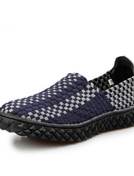 Men's Loafers & Slip-Ons Spring Summer Fall Winter Comfort Customized Materials Casual Flat Heel Braided StrapOrange Dark Blue Brown Army