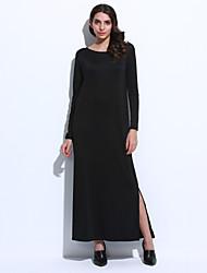 Women's Sexy Vintage Long Sleeve Split Dress