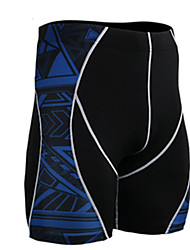 cheap -Men's Running Shorts Breathable Sweat-wicking Shorts Bottoms Exercise & Fitness Running Spandex Tight Black L XL XXL XXXL XXXXL