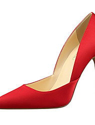 cheap -Women's Shoes Silk Spring Summer Novelty Comfort Heels Walking Shoes Stiletto Heel Pointed Toe Hollow-out for Wedding Party & Evening