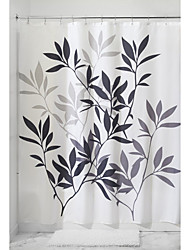 cheap -Shower Curtains Neoclassical Polyester Leaf Machine Made