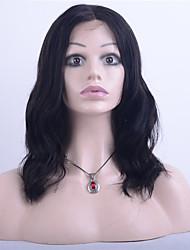 Grade 9A Brazilian Virgin Hair Full Lace Wig Natural Wave Hair 100% Human Virgin Hair Lace Wig Natural Black Color For Fashion Woman