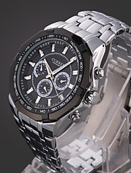 cheap -Men's Quartz Sport Watch Calendar / date / day Water Resistant / Water Proof Alloy Band Luxury Casual Dress Watch Fashion Multi-Colored