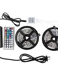 abordables -KWB 2 * 5m-3528-600-rgb-ip65 44k2 6apower alimentation conduit lumières de bande imperméable à l'eau Kit