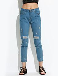 preiswerte -Damen Übergrössen Jeans Hose Solide