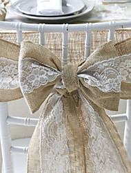 cheap -Chair Sash Lace Wedding Party Occassion Classic Fairytale Gargen Theme