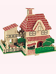 Jigsaw Puzzles Wooden Puzzles Building Blocks DIY Toys  Merry House 1 Wood Ivory Model & Building Toy