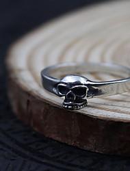 Ring Schmuck Sterling Silber Totenkopfform Simple Style Silber Schmuck Alltag Normal 1 Stück