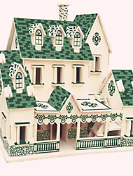Jigsaw Puzzles Wooden Puzzles Building Blocks DIY Toys Represents A Villa 1 Wood Ivory Model & Building Toy