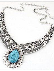 cheap -Women's Crystal Pendant Necklace - Gold Plated, Turquoise Vintage, Bohemian, Birthstones Gold, Silver Necklace For Party, Daily, Casual