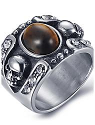 preiswerte -Herrn Ring Statement-Ring Onyx Achat Titanstahl Modeschmuck Alltag Normal