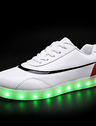 Damen-Sneaker-Lässig-Lackleder-Flacher Absatz-Komfort Light Up Schuhe Luminous Schuh-