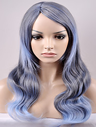 cheap -Synthetic Hair Wigs Loose Wave Capless Carnival Wig Halloween Wig Natural Wigs Medium Long Very Long Gray Synthetic Wig