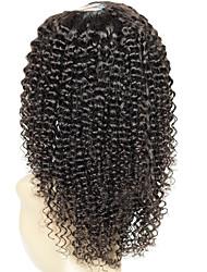 130% Density Remy Virgin Kinky Curly U Part Wig Brazilian Human Hair U Part Wig Kinky Curly Wigs 1*4Inch Middle Part For Black Women