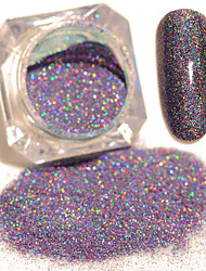1 Box Starry Holographic Laser Powder Manicure Nail Art Glitter Powder Mixed