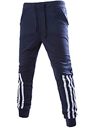 cheap -Men's Mid Rise Stretchy Harem Loose Chinos Sweatpants Pants,Casual Active Solid Striped Summer Fall