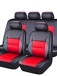 cheap -Car Seat Covers Seat Covers Red PU Leather Business for universal