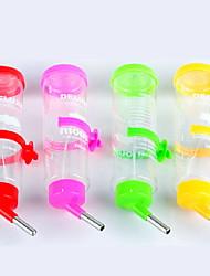 Недорогие -Грызуны Кролики Шиншиллы хомяк пластик Водонепроницаемый Миски и бутылки с водой Цвет в случайном порядке