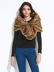 cheap -Women's Party Faux Fur Infinity Scarf - Solid Colored