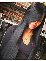 горячей продажи высокого качества бесклеевой девственницей человек полный парик шнурка с оптовой волос младенца для черная женщина моды