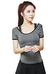 cheap -Women's Running T-Shirt Short Sleeves Quick Dry Breathable Sweat-wicking Top for Yoga Exercise & Fitness Running Modal Polyester Slim