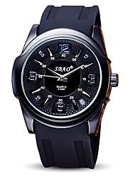 baratos -Homens Relógio Esportivo Relógio de Pulso Quartzo Legal / Silicone Banda Analógico Casual Preta - Preto Vermelho Azul