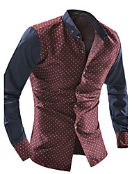 cheap -Men's Cotton Shirt - Polka Dot