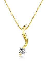 Women's Pendant Necklaces AAA Cubic Zirconia Zircon Cubic Zirconia Gold Plated Alloy GeometricUnique Design Dangling Style Rhinestone